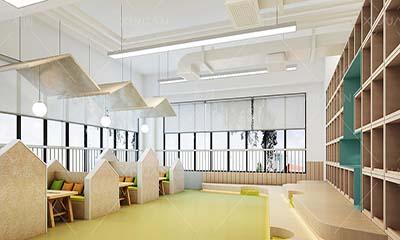 幼儿园室内设计 幼儿园图书室环境设计